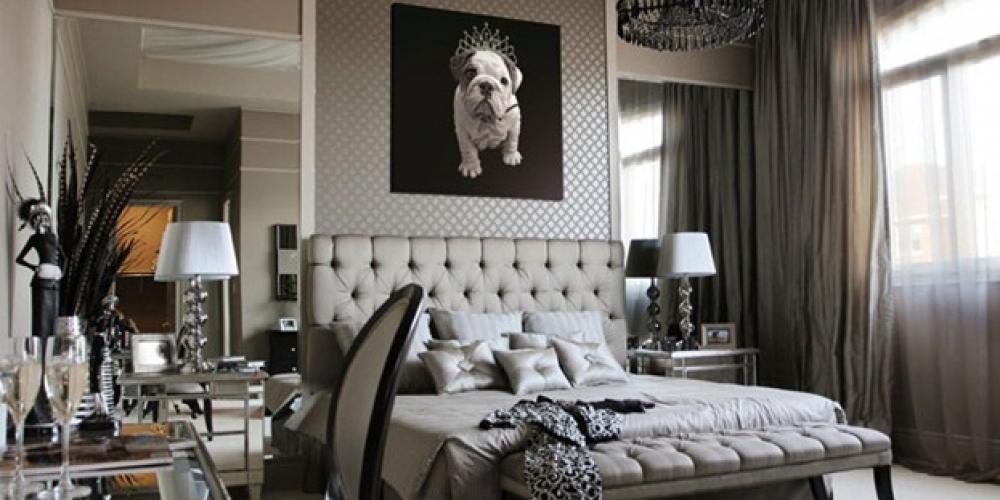 Inšpirácia glamour spálňa