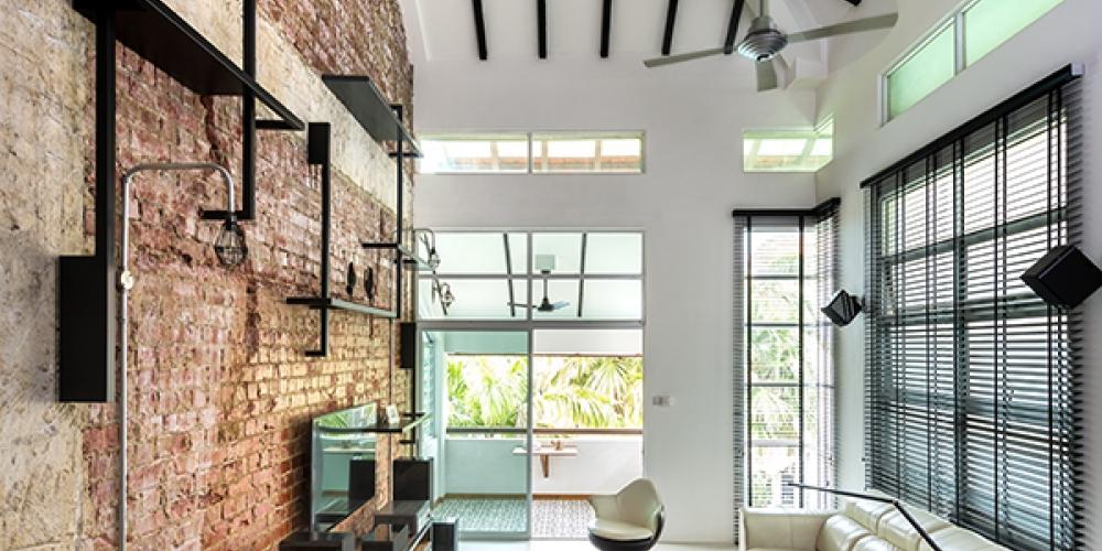 Industriálny štýl obývačka