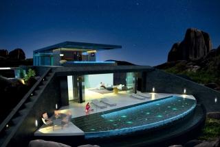 Bazén ako strop? Rezidencia ONE na Seychelách