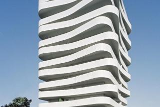 Vlnitý bytový komplex ZAC du Coteau